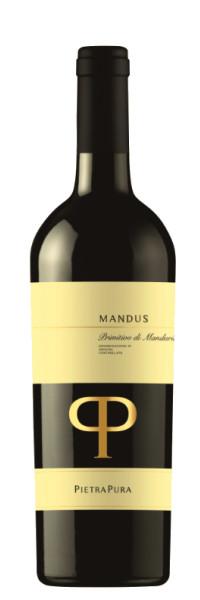 Pietra Pura MANDUS Primitivo di Manduria DOC 2016 0,75l