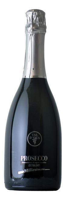 Val d´Oca Prosecco Spumante Extra dry Millesimato 2015 Valdobbiadene DOCG 0,75l